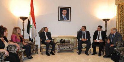Syrie : une délégation de l'APF rencontre le président du parlement Al-Laham