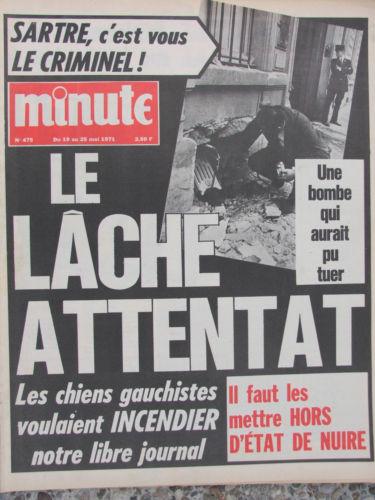 14 mai 1971 : attentat contre le journal Minute