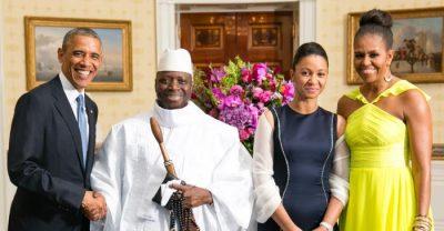 Gambie_Yahya_Jammeh_with_Obamas_2014