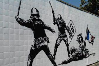 Fresque anti-flic à Grenoble