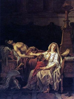449px-Jacques-Louis_David-_Andromache_Mourning_Hector