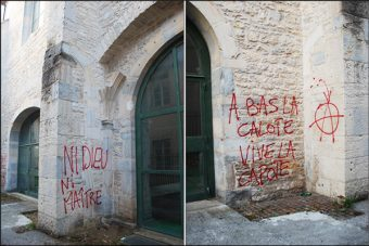 La haine anti-catholique frappe à Besançon