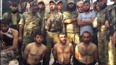 Syrie_prisonniers_FDS_de_Jaysh al-Tahrir