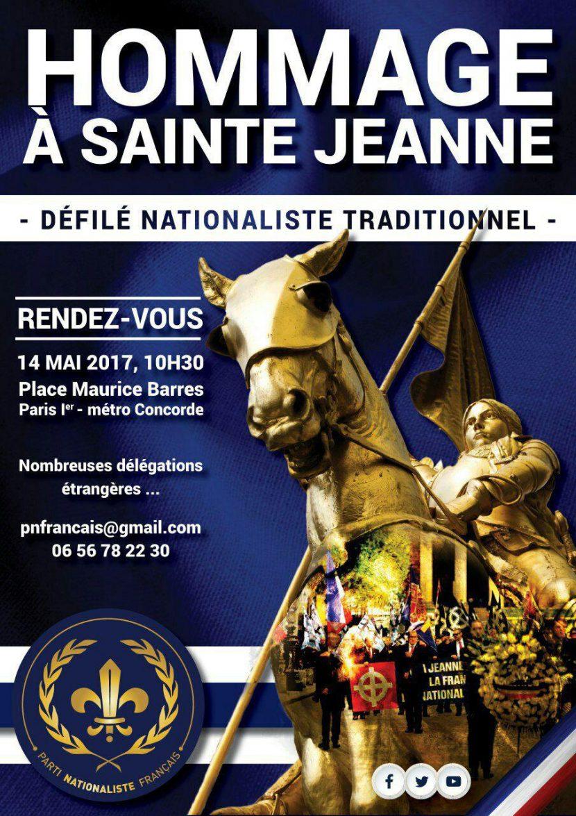 Hommage à sainte Jeanne – 14 mai 2017 – Paris
