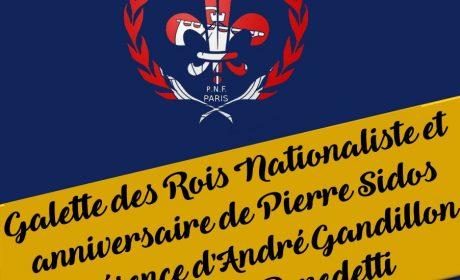 Paris : Galette des rois du PNF Ile-de-France le 10 janvier à 19heures