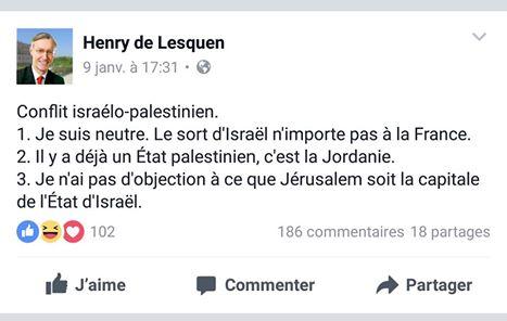 Réponse d' Yvan Benedetti à Henry de Lesquen sur le conflit israélo-palestinien