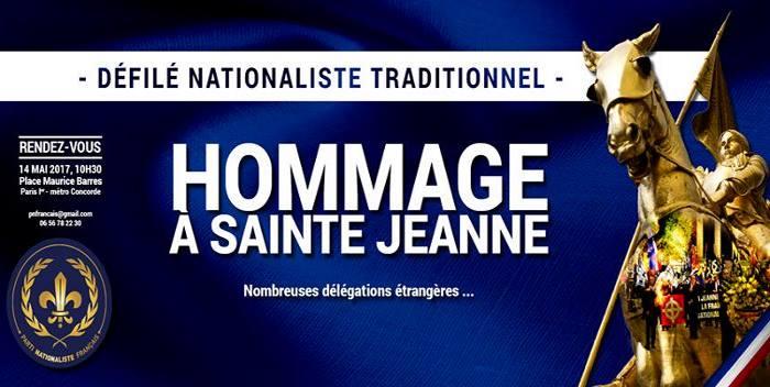 Hommage à sainte Jeanne – 14 mai 2017 – 10 h 30 – Paris (vidéo)