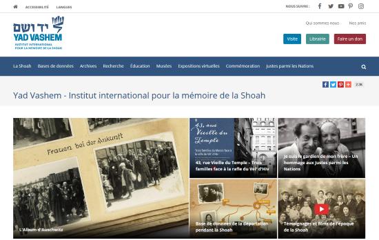 Maintenant la propagande shoatique yad-vashesque en français