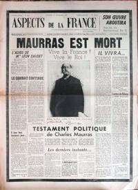 10 juin 1947 : sorti du 1er numéro d'Aspect de la France