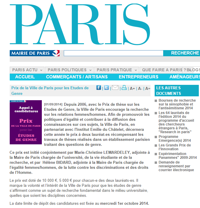 Gaspillages idéologiques à Paris