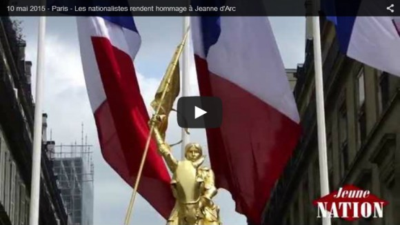 10 mai 2015 – Paris – Les nationalistes rendent hommage à Jeanne d'Arc