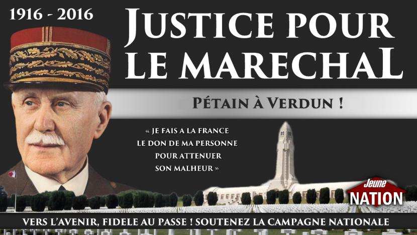 «Justice pour le Maréchal, Pétain à Verdun»