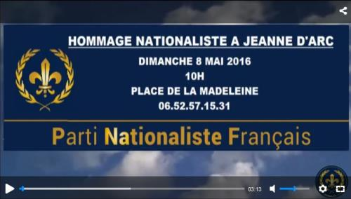 Hommage nationaliste à Jeanne d'Arc – 8 mai 2016