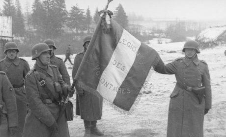 1943 Visite de Monsieur de Brinon aux combattants de la L.V.F. (vidéo)