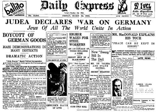Comment le judaïsme politique a déclaré la guerre sainte à l'Allemagne
