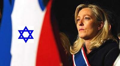 La Le Pen trinque en hébreu