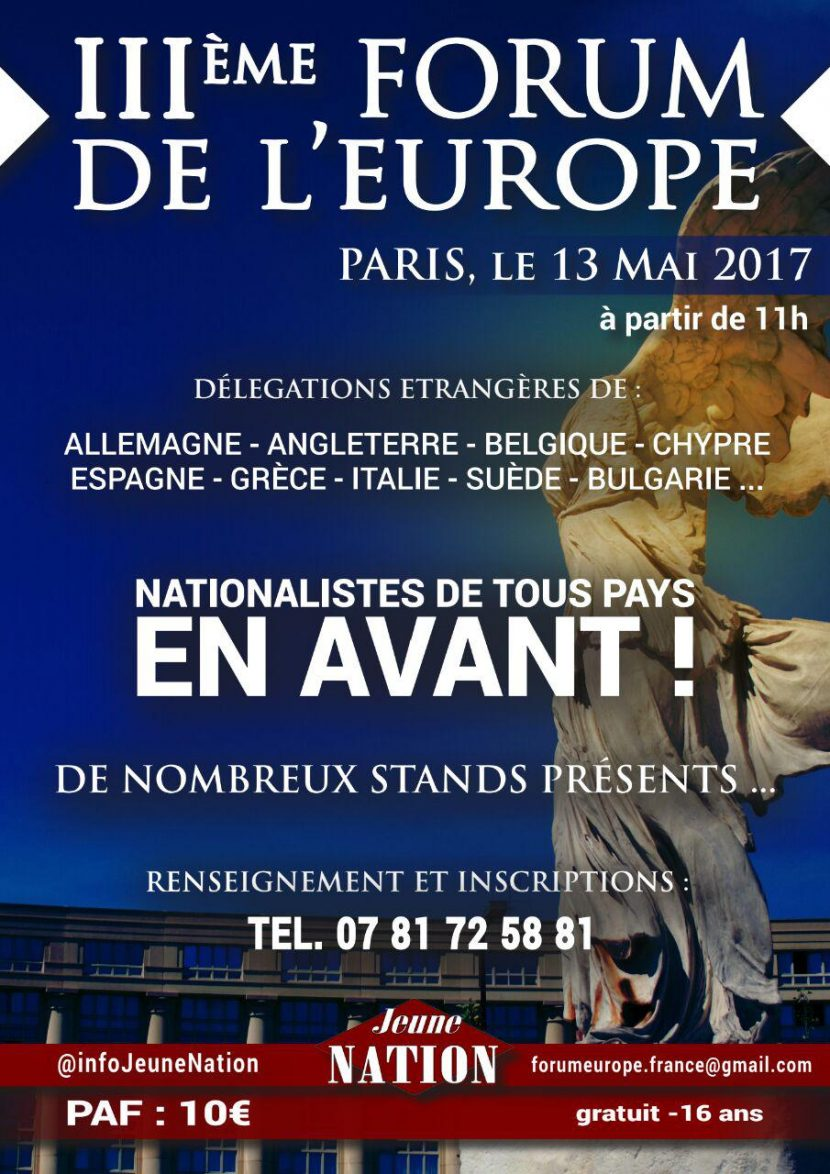 IIIe Forum de l'Europe – 13 mai 2017 – Paris