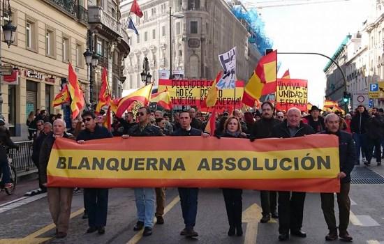 Espagne : délégation du CLAN à la manifestation pour les 14 de « Blanquerna »