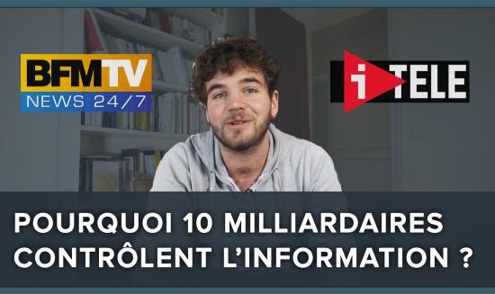 Pourquoi 10 milliardaires contrôlent 100 % des médiats en France ! (vidéo)