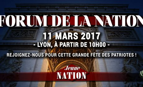 11 MARS 2017 – LYON – XIXème FORUM DE LA NATION