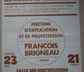 15 juin 1972 : tentative d'assassinat contre François Brigneau