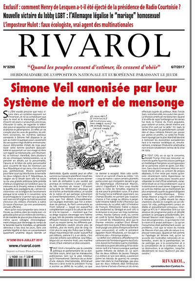 Simone Veil canonisée par leur Système de mort et de mensonge