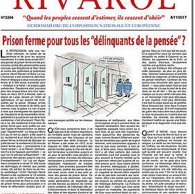 """Prison ferme pour tous les """"délinquants de la pensée"""" ?"""
