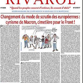 Changement du mode de scrutin des européennes: cynisme de Macron, cimetière pour le Front !