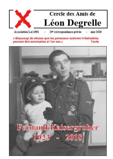29e Lettre des Amis de Léon Degrelle