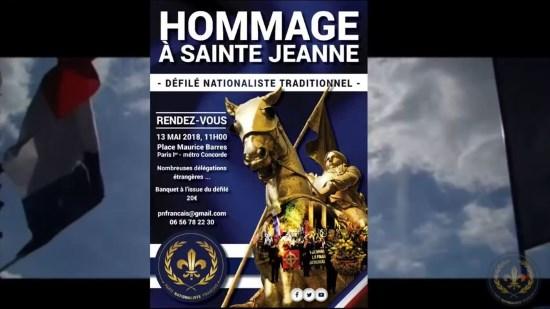 Vidéo d'annonce de l'hommage traditionnel à Jeanne d'Arc 2018