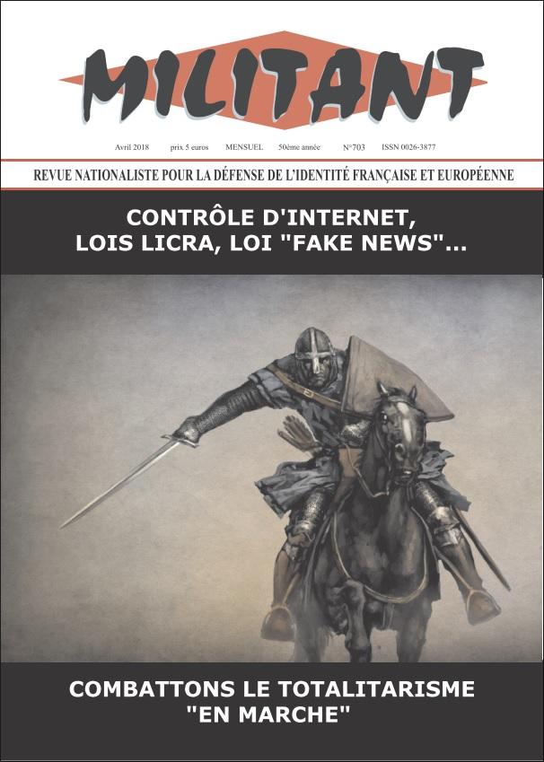 Militant N° 703 – Vers la République totalitaire