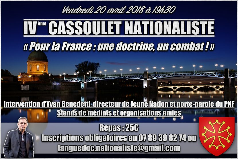 IVe Cassoulet Nationaliste – 20 avril – Toulouse