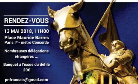 Hommage à sainte Jeanne – 13 mai 2018 – Paris