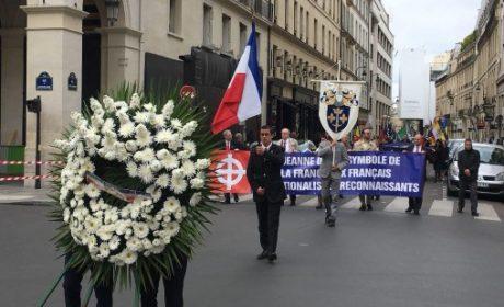 Cortège traditionnel d'hommage à Jeanne d'Arc du PNF à Paris le 13 Mai 2018 (vidéo)