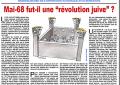 Mai-68 fut-il une « révolution juive » ?