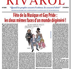 Fête de la Musique et Gay Pride : les deux mêmes faces d'un monde dégénéré !