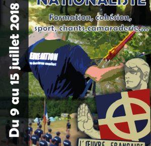 Conférence du camp-école Jeune Nation du 14 juillet 2018 : Charles Maurras, le maître du nationalisme