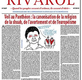 Veil au Panthéon : la canonisation de la religion de la shoah, de l'avortement et de l'européisme