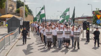 Les partisans du judaïsme politique secoués par les militants de Nordfront à Almedalen (photos et vidéos)