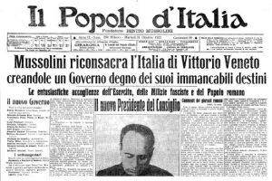 15 novembre 1914: 1er numéro du journal «Il Popolo d'Italia»