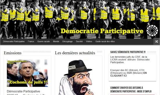 Un nouveau pas vers l'abolition de la liberté d'expression en France: censure de Démocratie Participative