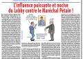 L'influence puissante et nocive du Lobby contre le Maréchal Pétain !