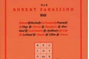 Nouveauté : Mon révisionnisme littéraire - Robert Faurisson