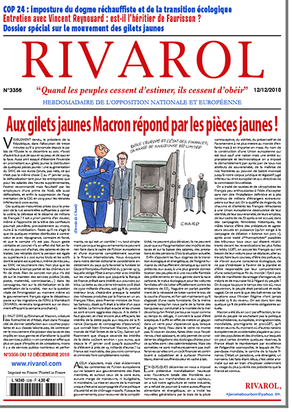 Aux gilets jaunes Macron répond par les pièces jaunes!