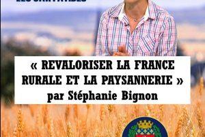 Revaloriser la France rurale et la paysannerie par Stéphanie Bignon - Paris - 2 février 2019