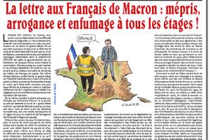 La lettre aux Français de Macron: mépris, arrogance et enfumage à tous les étages!
