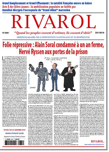 Folie répressive: Alain Soral condamné à un an ferme, Hervé Ryssen aux portes de la prison