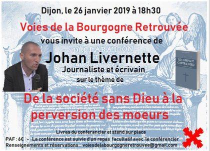 26 janvier 2019 – Dijon – Conférence de Johan Livernette