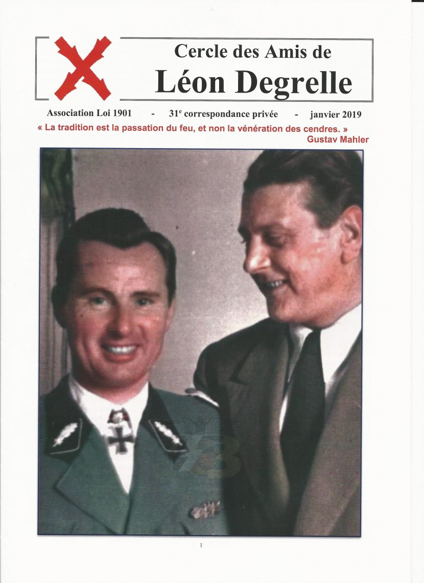Nouveauté : 31e lettre des Amis de Léon Degrelle – CALD