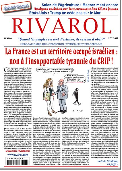 La France est un territoire occupé israélien: non à l'insupportable tyrannie du CRIF!